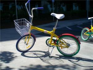 Fahrrad des Google-Konzerns in den typischen Google-Farben