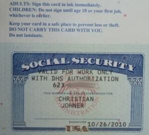 die Sozialversicherungsnummer