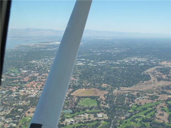 über Stanford fliegen