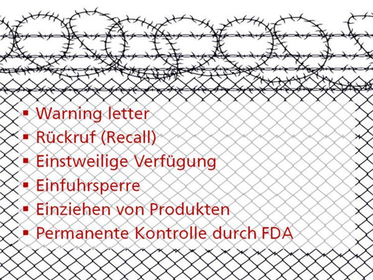Der Maßnahmenkatalog der FDA