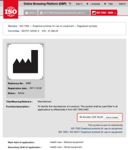 Beispiel für ein Symbol aus der ISO 7000