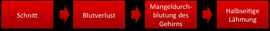 Ein Schaden gemäß ISO-14971 zergliedert sich meist in eine Ursachenkette