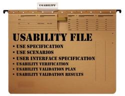 Gebrauchstauglichkeitsakte (Usability File) konform mit IEC-62366 bzw. FDA HFE