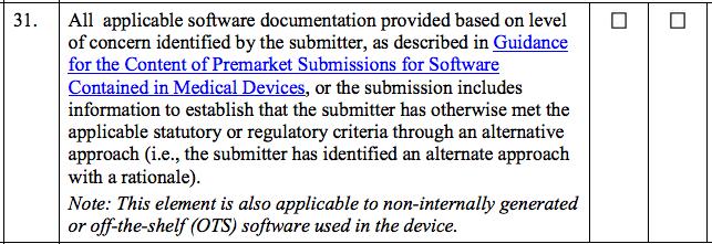 """Die FDA """"Refuse to Accept Policy"""" geht auch kurz auf Software ein"""