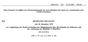 Richtlinie 80/181/EWG