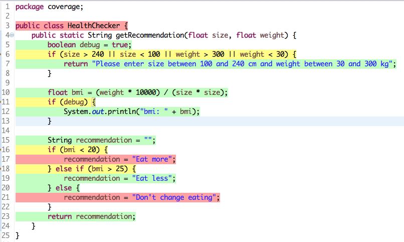 Code Coverage: Ein Beispiel
