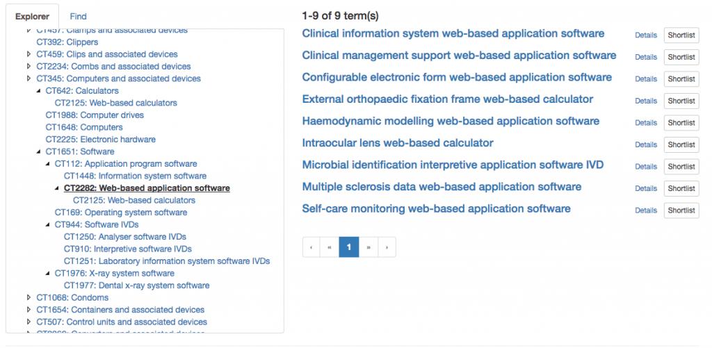 GMDN Codes für Software