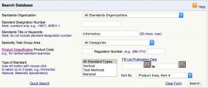 Suchmaske FDA Consensus Standards