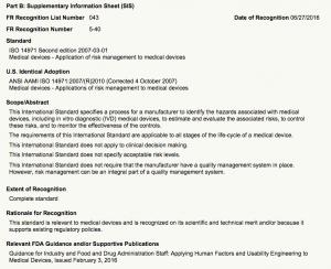 ISO 14971: Ein Beispiele für einen Recognized Consensus Standard