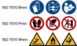 Das 2. Amendment zur IEC 60601-1 unterscheidet die Symboltypen Gebot, Verbot und Warnung und verlangt die Symbole der ISO 7010