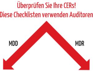Überprüfen Sie Ihre CERs! Zu einer Überprüfung gemäß MDD nutzen Sie unsere praktische MEDDEV Checkliste. Zur Überprüfung eines CERs nach MDR nutzen Sie das CEAR-Template der MDCG.